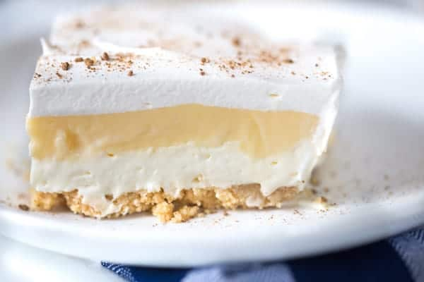 Eggnog Pudding Layer Dessert