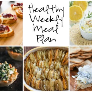 Healthy Weekly Meal Plan Week of 12.24.16