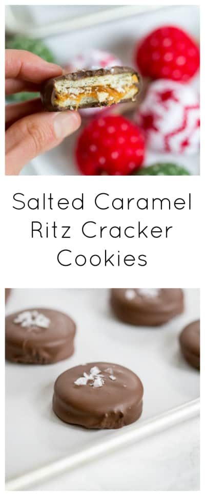 Salted Caramel Ritz Cracker Cookies