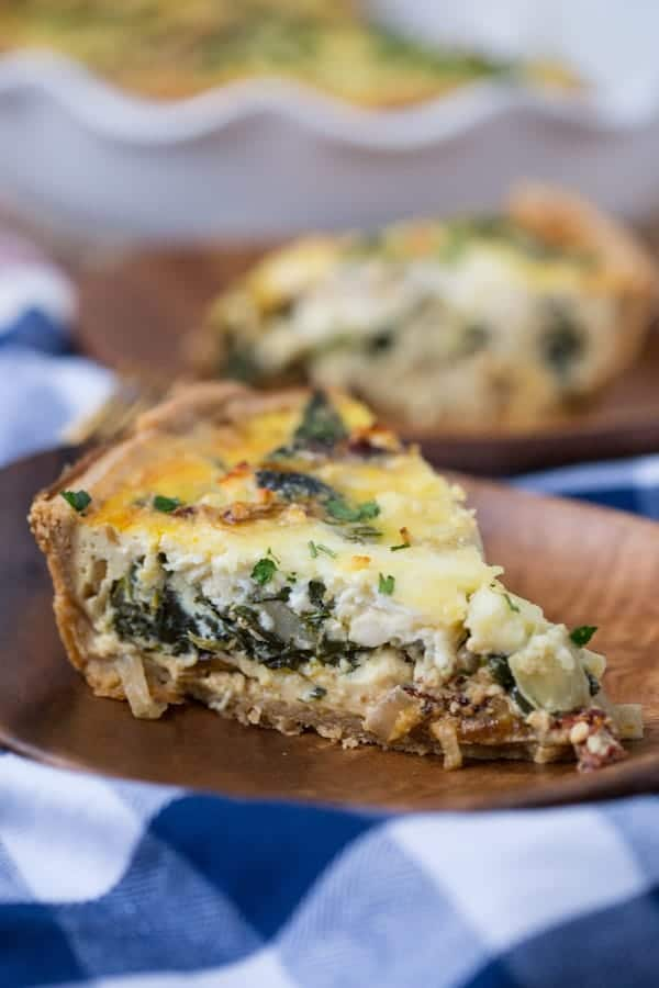 Greek Quiche with Whole Wheat Crust