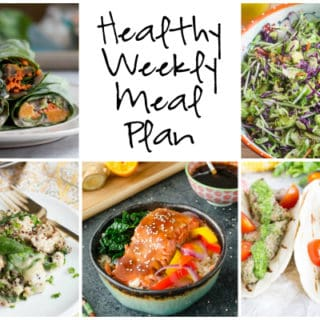 Healthy Weekly Meal Plan Week of 2.4.17