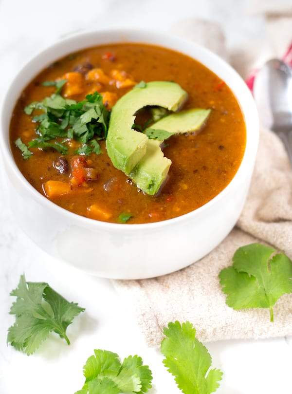 Chipotle Sweet Potato and Black Bean Soup | greens & chocolate