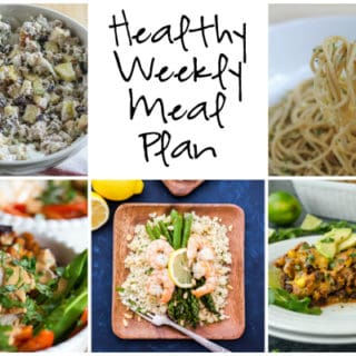 Healthy Weekly Meal Plan Week of 4.1.17