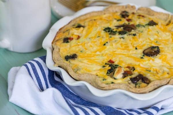 Gluten and Dairy Free Vegetable Quiche