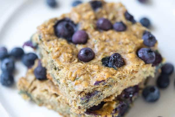 Blueberry Zucchini Oat Bars