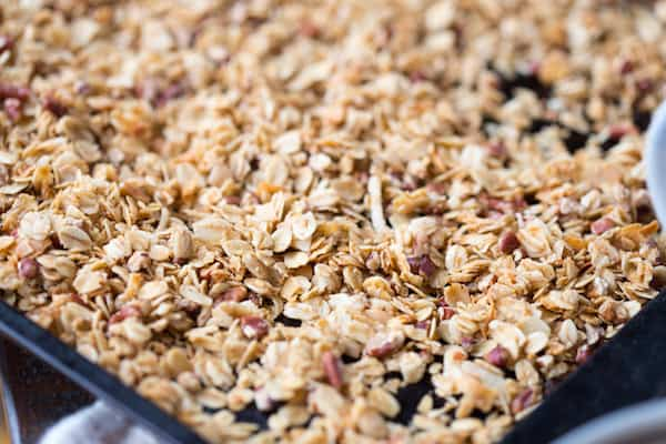 Coconut Maple Pecan Granola | greens & chocolate