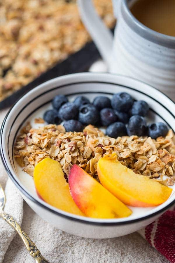 Coconut Maple Pecan Granola