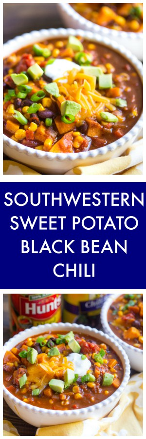 Southwestern Sweet Potato Black Bean Chili