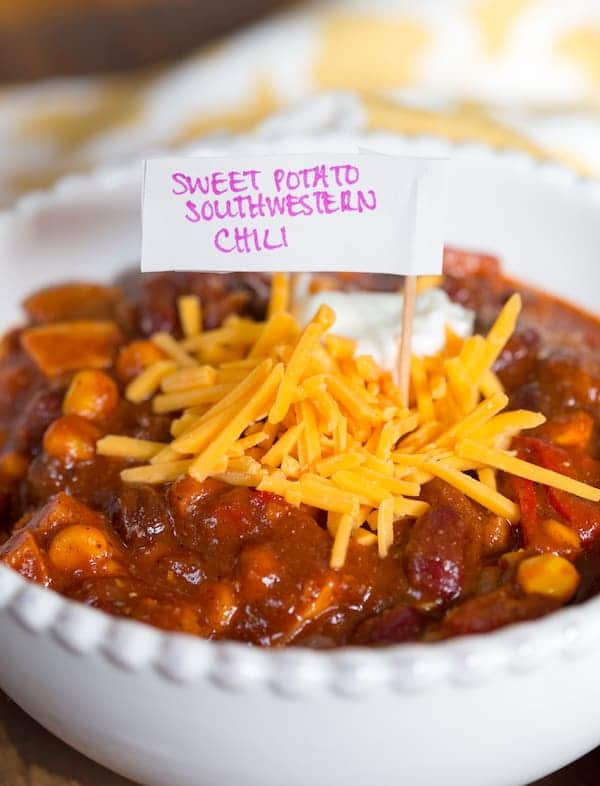 Southwestern Sweet Potato and Black Bean Chili