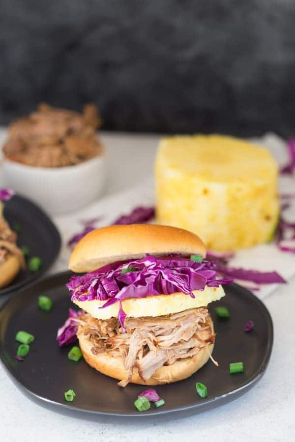 Pressure Cooker Hawaiian Pulled Pork Sandwiches