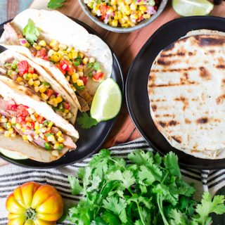 Grilled Chipotle Steak Tacos with Grilled Corn Salsa