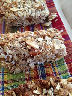 coconut almond apricot granola bars