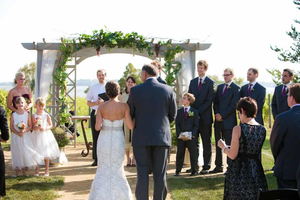 Wedding Images - Walking to the Arch Ceremony