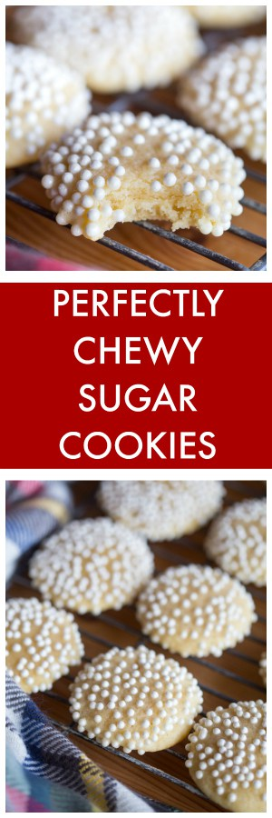 Perfectly Chewy Sugar Cookies Collage with Text Overlay