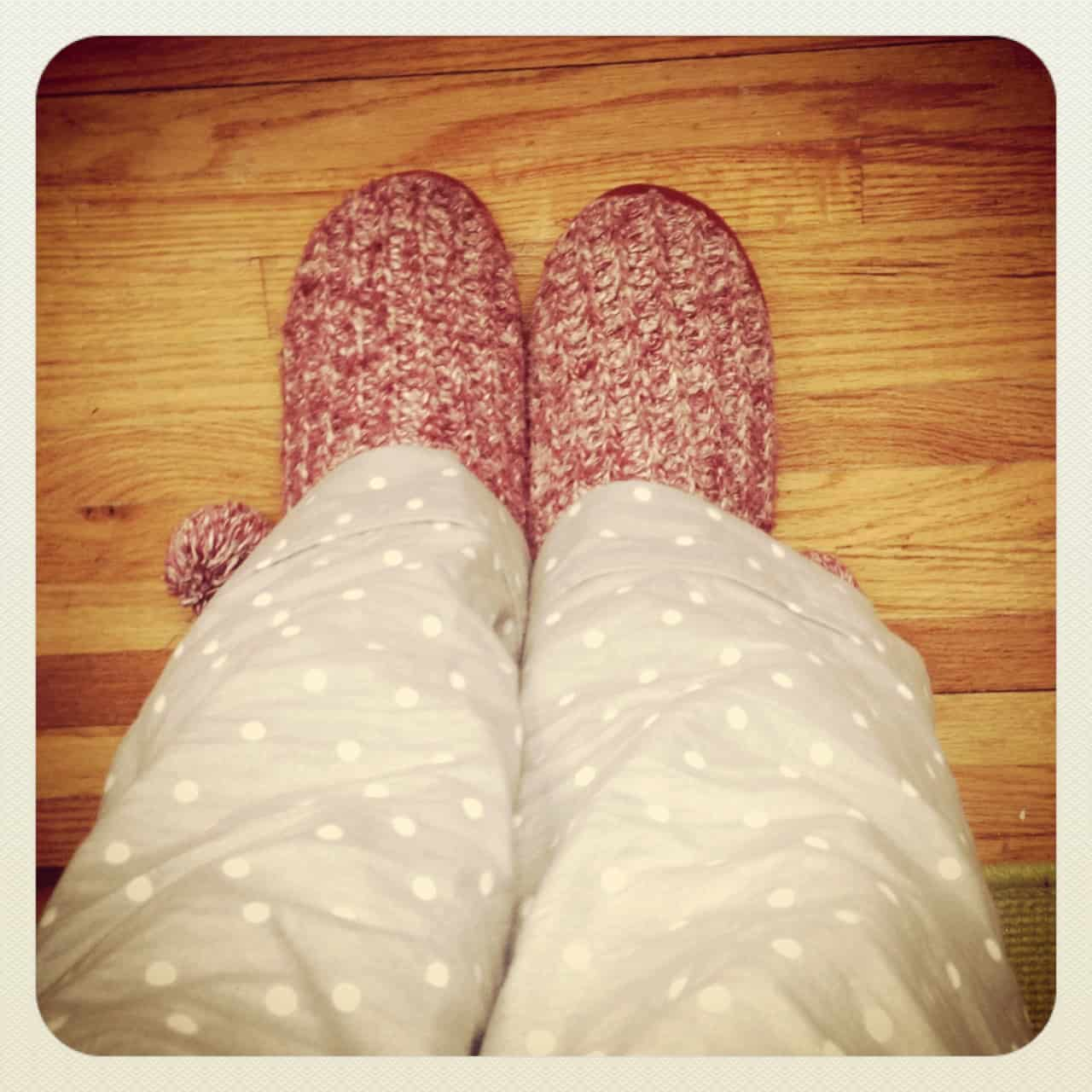 I put on my coziest slippers, and got to work.