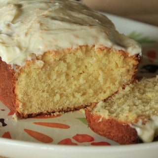 orange yogurt bread with orange cream cheese glaze