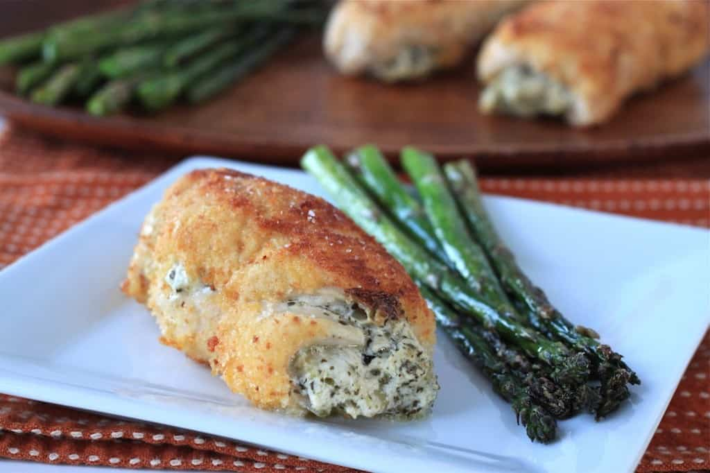 pesto and artichoke stuffed chicken