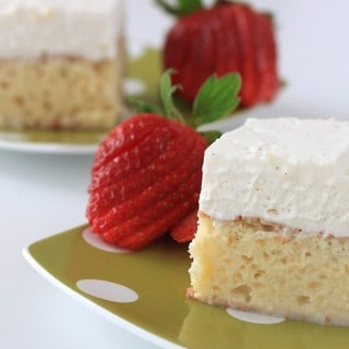 rum chata tres leches cake