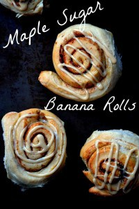 Maple Sugar Banana ROlls