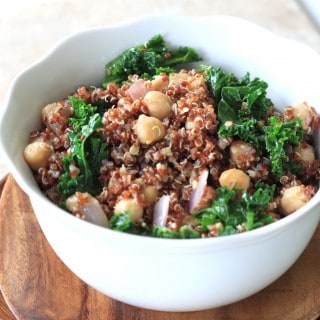 kale and chickpea quinoa salad