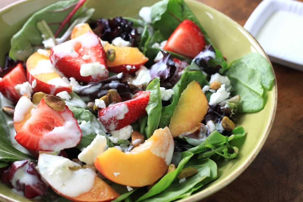 peach and strawberry salad 2
