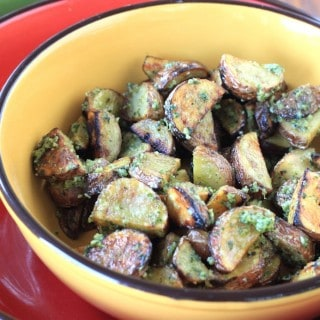 pesto grilled potatoes