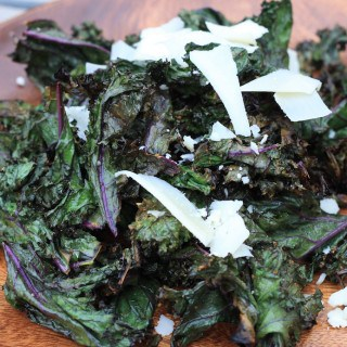 lemon garlic grilled kale
