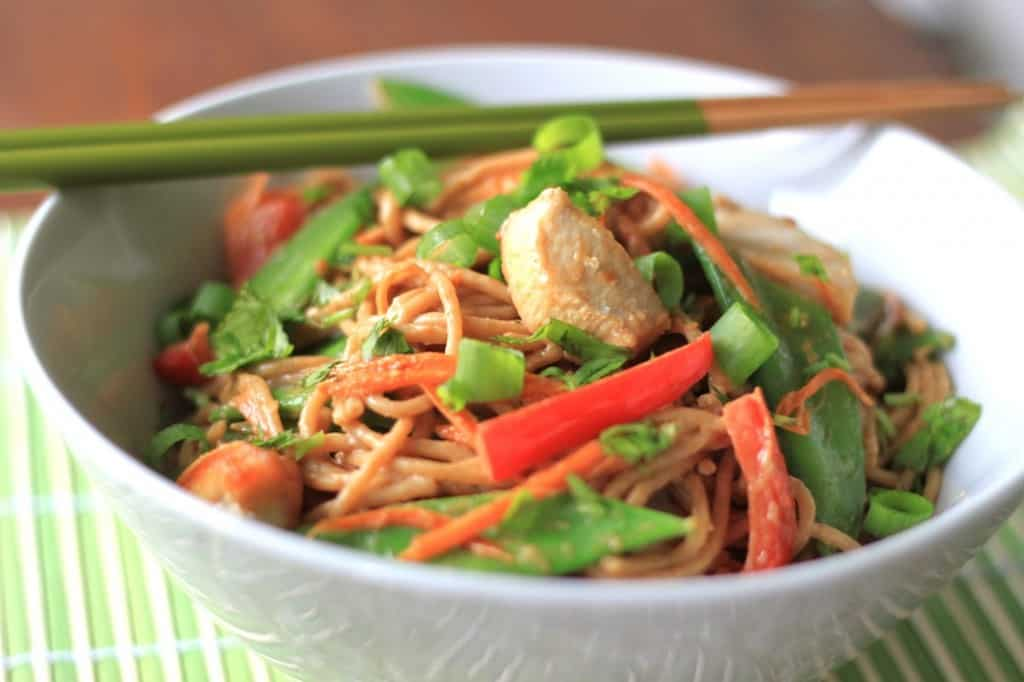 thai coconut peanut noodles