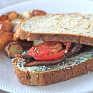 blt's with basil cream cheese spread