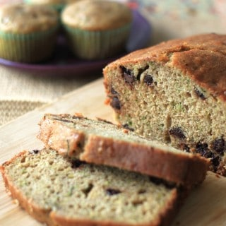 chocolate chip zucchini bread and muffins