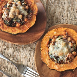 Quinoa and Kale Stuffed Acorn Squash