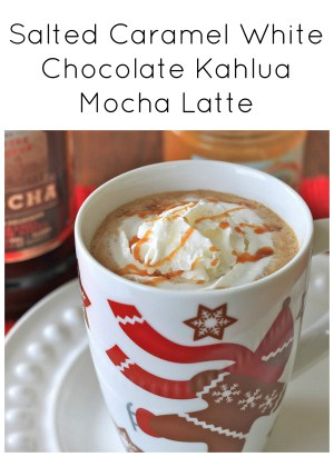 Salted Caramel White Chocolate Kahlua Mocha Latte