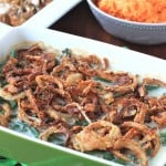 Green Bean Casserole From Scratch Served on the Table