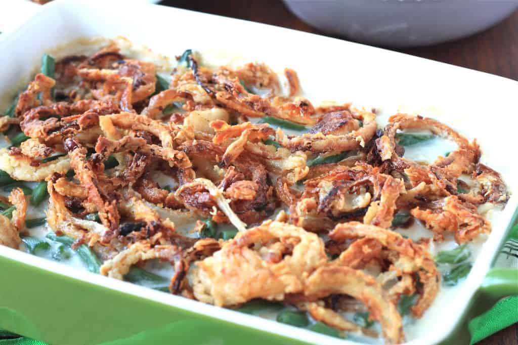 Green Bean Casserole From Scratch Recipe Closeup