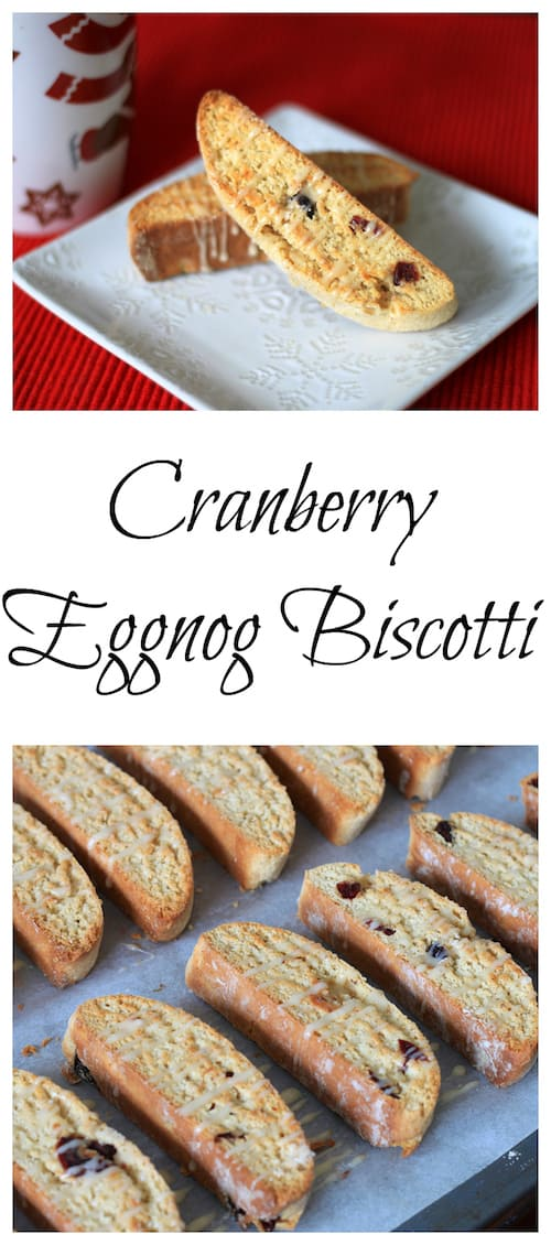Cranberry Eggnog Biscotti Super Long Collage with Text Overlay