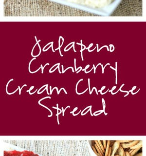 Jalapeño Cranberry Cream Cheese Spread Super Long Collage with Text Overlay