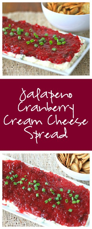 Jalapeno Cranberry Cream Cheese Spread