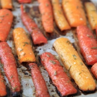 honey & rosemary roasted carrots