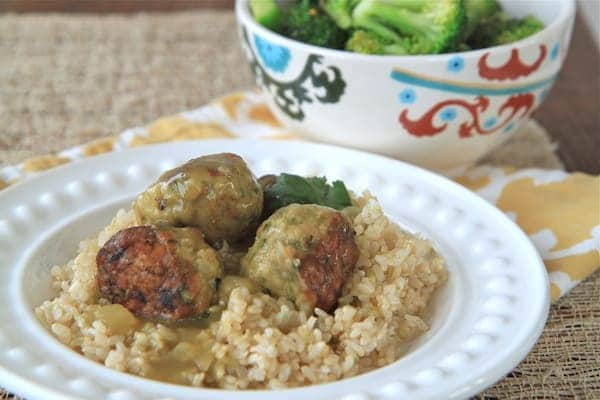 green thai curry meatballs 3