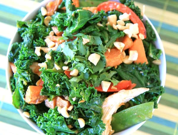 warm thai kale salad
