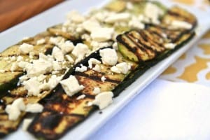 Greek Spiced Grilled Zucchini with Feta   greens & chocolate