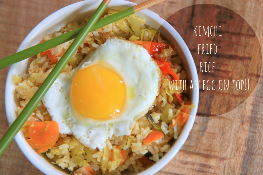 Kimchi Fried Rice {with an egg on top} | greens & chocolate