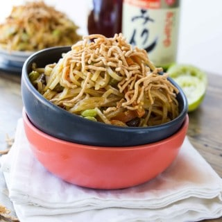 easy vegetable chow mein {guest post}