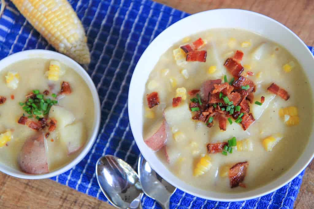 creamy (no cream!) corn chowder