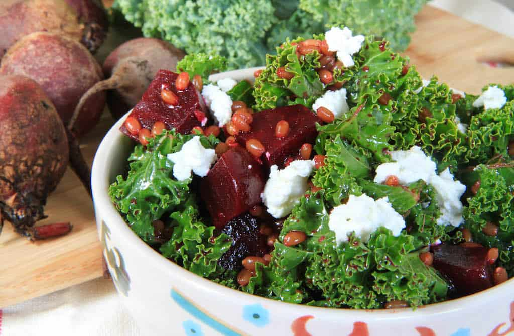 Beet and Kale Wheatberry Salad-4