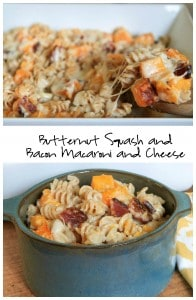 Butternut Squash Bacon Macaroni and Cheese