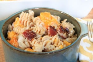Butternut Squash and Bacon Macaroni and Cheese
