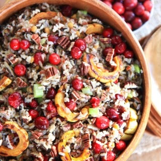 Cranberry Squash Wild Rice Salad