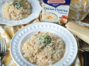 Leek and Pancetta Risotto {extra creamy!}
