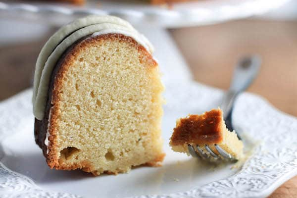 Boozy Eggnog Bundt Cake with Eggnog Buttercream